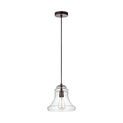 Feiss Doyle Oil Rubbed Bronze 10-Inch One-Light Mini-Pendant