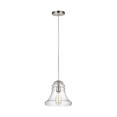 Doyle Satin Nickel 10-Inch One-Light Mini-Pendant