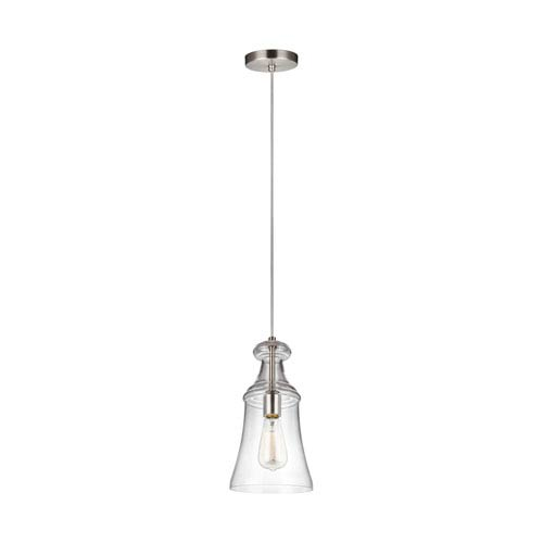Feiss Doyle Satin Nickel 7-Inch One-Light Mini-Pendant