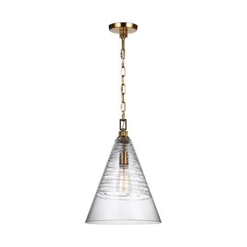 Elmore Burnished Brass 12-Inch One-Light Pendant