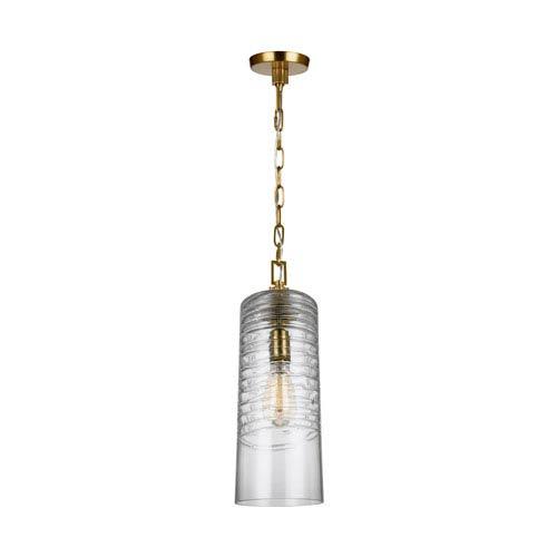 Elmore Burnished Brass 6-Inch One-Light Mini-Pendant