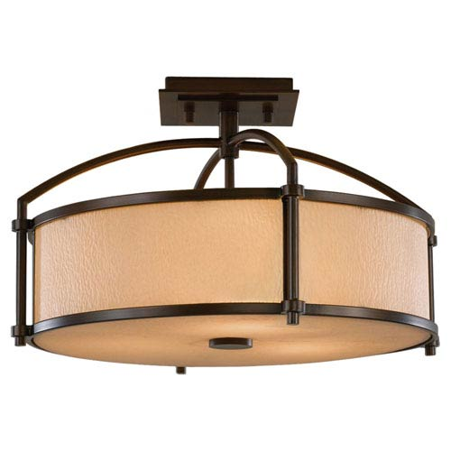 Feiss Preston Heritage Bronze Semi-Flush