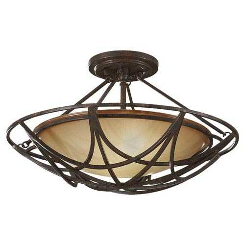 Feiss El Nido Mocha Bronze Two-Light Semi-Flush
