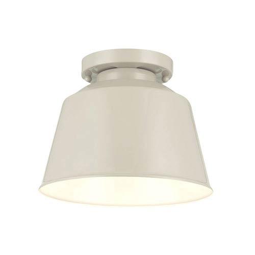 Feiss Freemont Hi Gloss Grey One-Light Semi Flush Mount