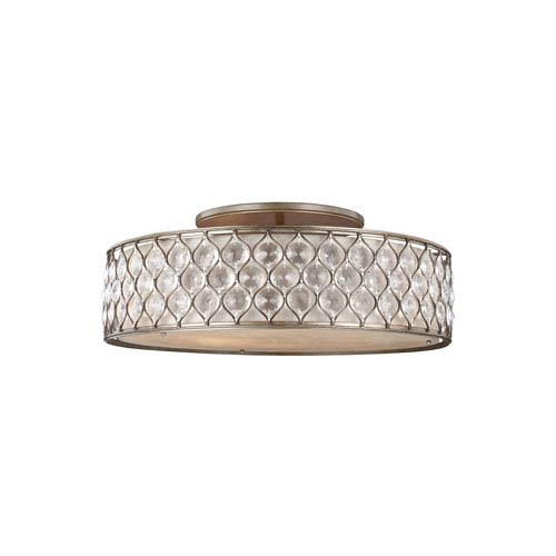 Lucia Burnished Silver Six-Light Ceiling Fixture
