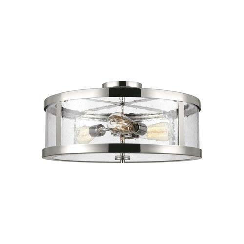 Feiss Harrow Polished Nickel 20-Inch Three-Light Semi-Flush Mount