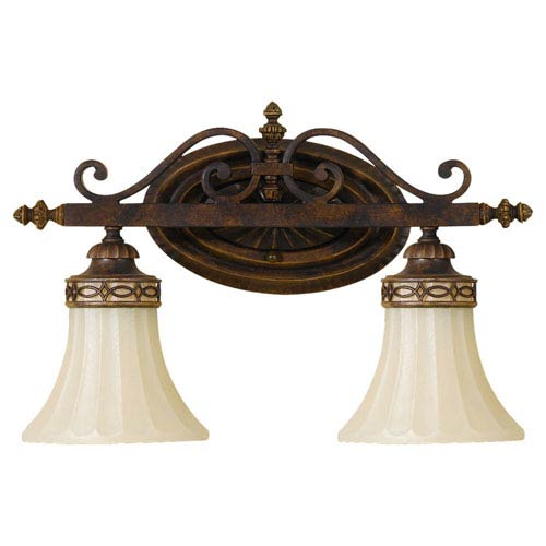 Feiss Drawing Room Walnut Two-Light Bath Fixture