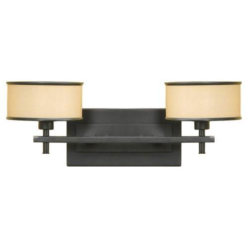 Feiss Casual Luxury Dark Bronze Two-Light Vanity Fixture