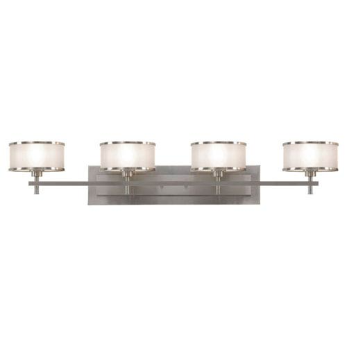 Feiss Casual Luxury Brushed Steel Four-Light Bath Fixture
