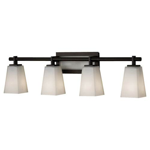 Feiss Clayton Oil Rubbed Bronze Four-Light Bath Light Strip