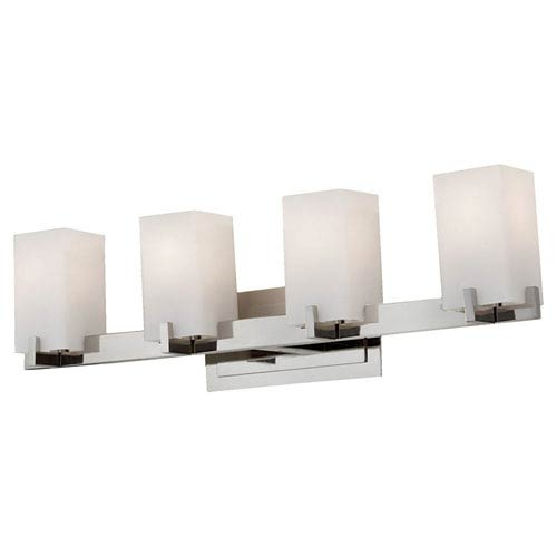 Feiss Riva Polished Nickel Four-Light Bath Fixture