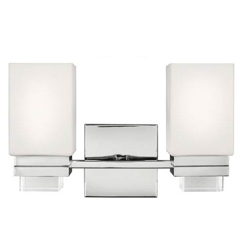 Maddison Polished Nickel Two-Light Bath Fixture
