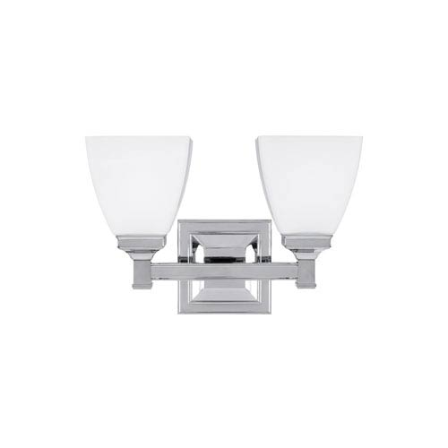 Putnam Chrome Two-Light Bath Fixture