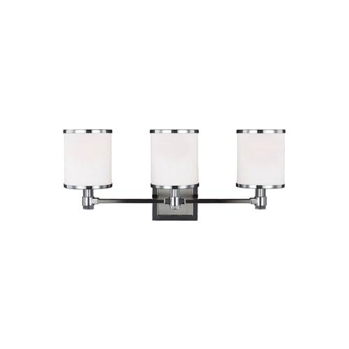 Prospect Park Satin Nickel and Chrome Three-Light Bath Fixture