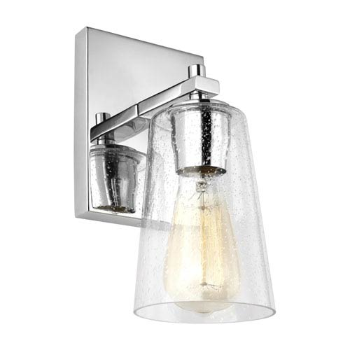 Mercer Chrome 5-Inch One-Light Bath Light