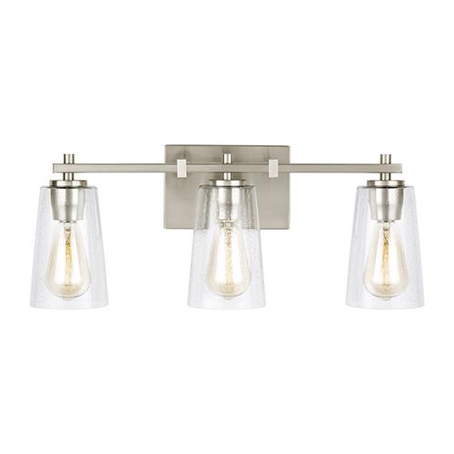 Feiss Mercer Satin Nickel Three-Light Vanity