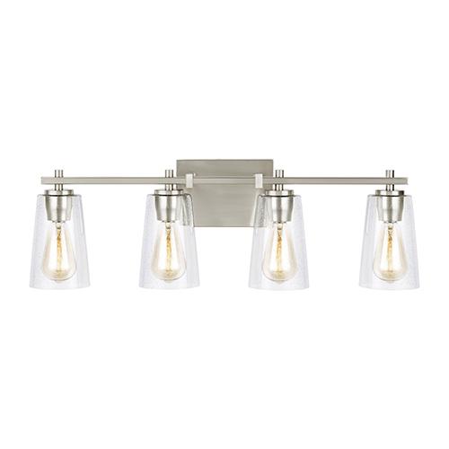 Mercer Satin Nickel Four-Light Vanity