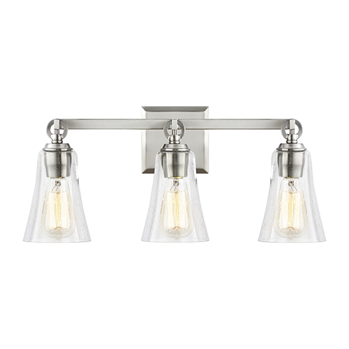 Monterro Satin Nickel Three-Light Vanity
