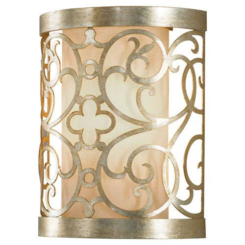 Feiss Arabesque Silver Leaf Patina One-Light Sconce