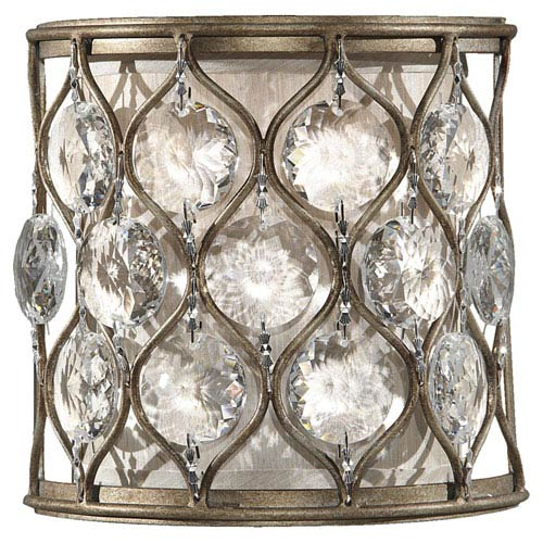 Lucia Burnished Silver Crystal One-Light Sconce