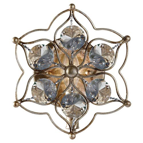 Leila Burnished Silver  Wall Sconce