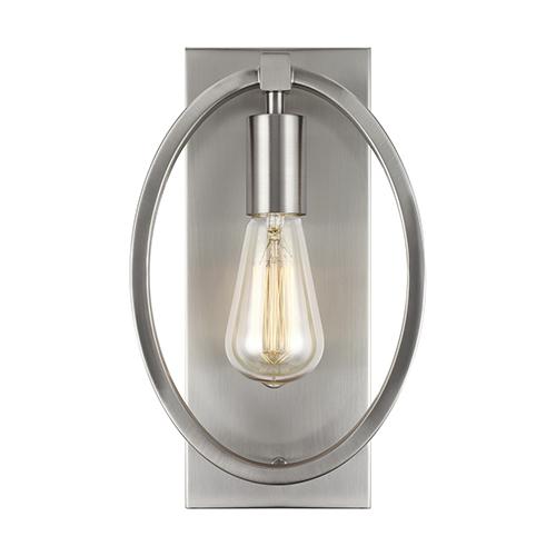 Marlena Satin Nickel One-Light Wall Sconce