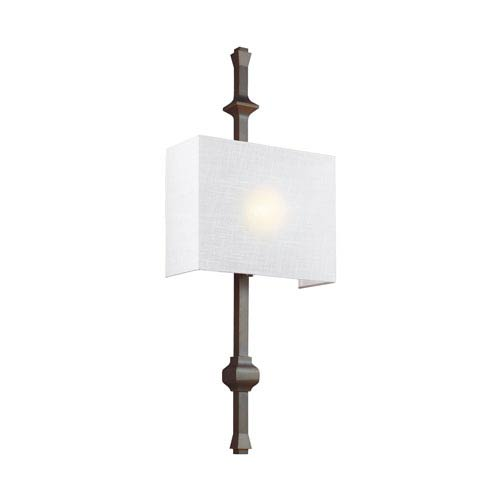 Feiss Teva Antique Bronze One-Light Wall Bath Fixture