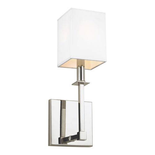Quinn Polished Nickel 5-Inch One-Light Bath Light