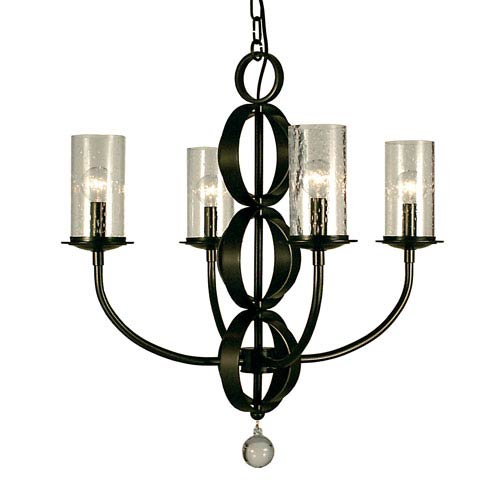 Framburg Compass Mahogany Bronze 23-Inch Four-Light Chandelier