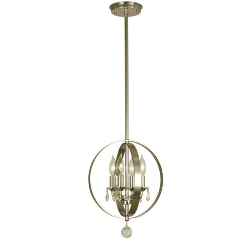 Constellation Polished Nickel 14-Inch Four-Light Pendant