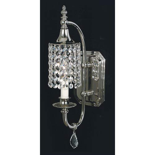 Crystal wall sconces lighting bellacor nocturne wall sconce aloadofball Image collections