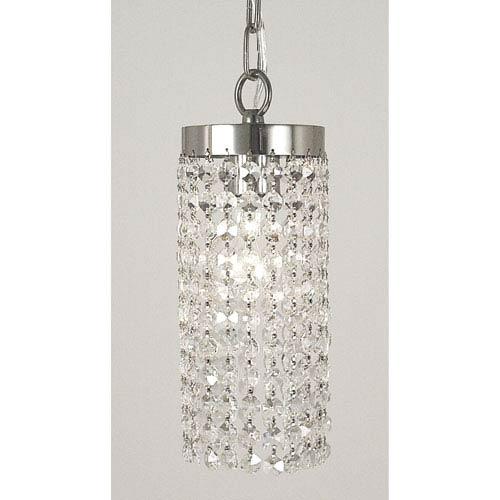 Framburg Princessa Polished Silver 4-Inch One-Light Mini Pendant