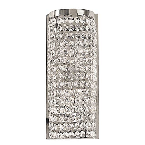 Princessa Polished Silver 5-Inch Two-Light Bath Vanity