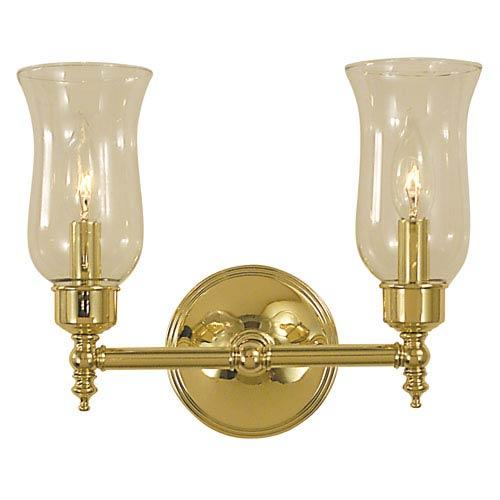 Framburg Sheraton Polished Brass 13-Inch Two-Light Bath Vanity