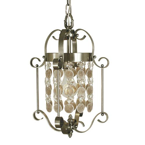 Naomi Brushed Nickel 10-Inch One-Light Pendant
