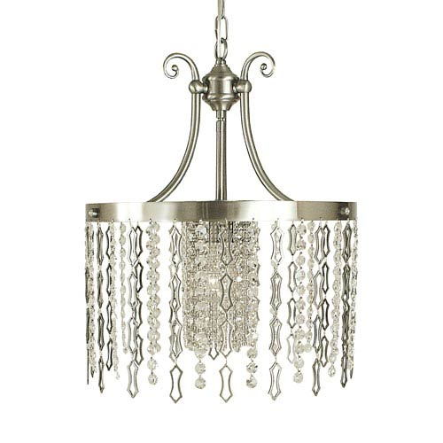 Penelope Brushed Nickel 15-Inch One-Light Pendant