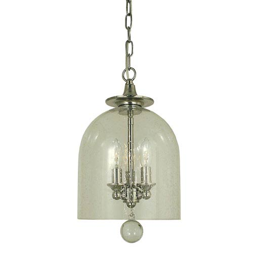 Hannover Polished Nickel 9-Inch Three-Light Mini Pendant