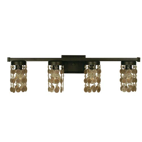 Naomi Mahogany Bronze 30-Inch Four-Light Bath Vanity