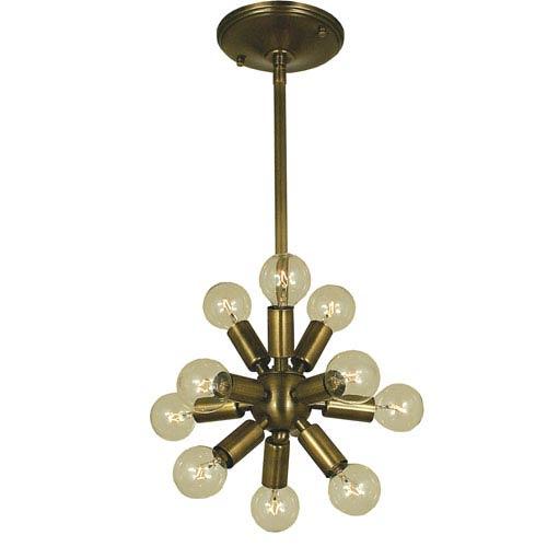 Simone Antique Brass 12-Inch Eleven-Light Pendant