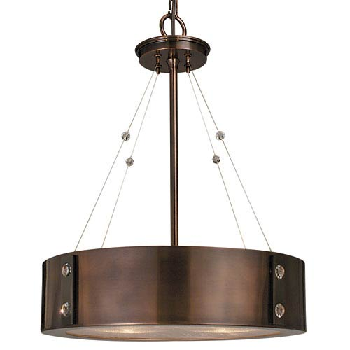 Oracle Roman Bronze with Ebony Accents 16-Inch Four-Light Pendant