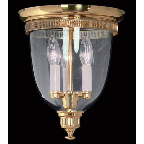 Independence Hall Polished Brass Flush Mount Ceiling Light
