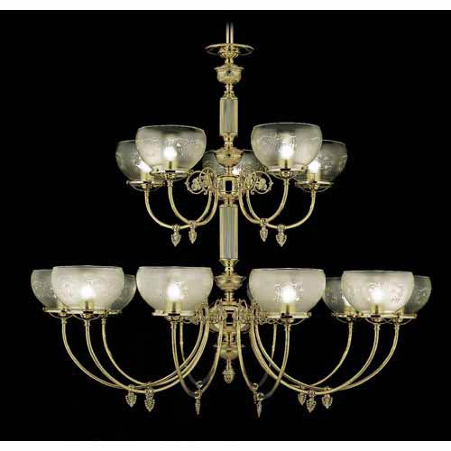 Chancery Polished Brass Fifteen-Light Chandelier