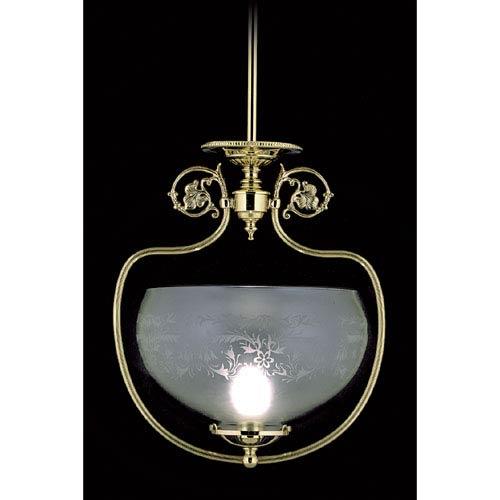 Chancery Polished Brass Pendant