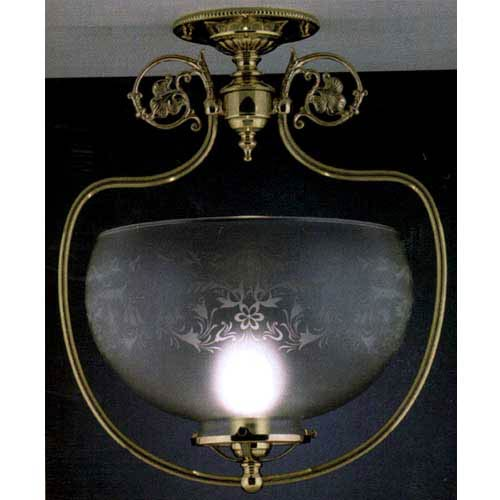 Chancery Polished Brass Ceiling Light