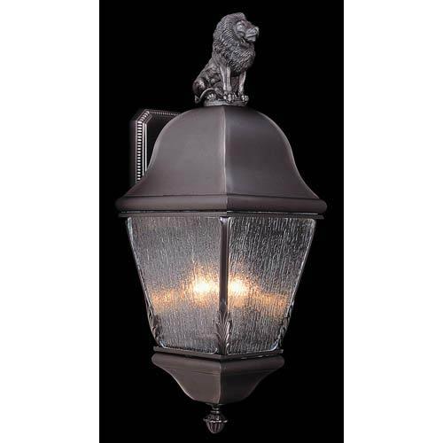 Coeur de Lion Iron Medium Outdoor Wall Mounted Lantern with Lion