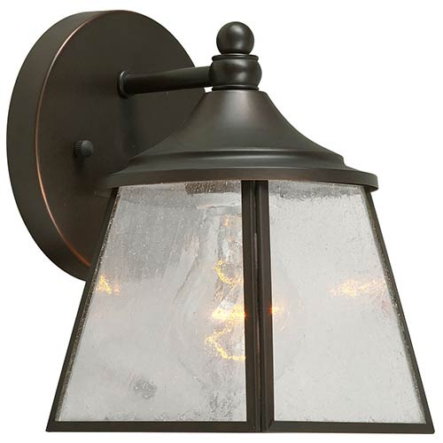 Forte Lighting Royal Bronze One-Light 5-Inch Wide Outdoor Wall Sconce