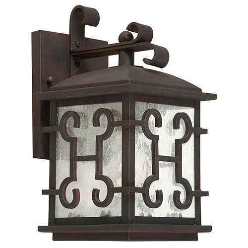 Forte Lighting Antique Bronze One-Light 6.25-Inch Wide Outdoor Wall Sconce