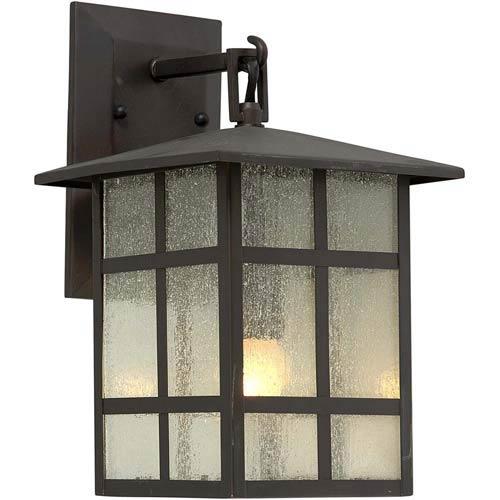 Forte Lighting Series 484 Antique Bronze One-Light Outdoor Wall Light
