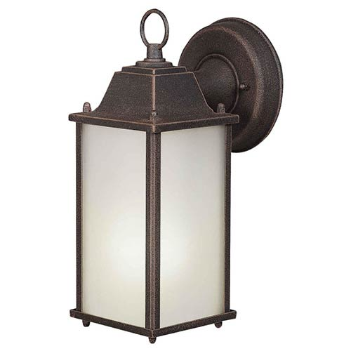 Forte Lighting Painted Rust One-Light 10.5-Inch High Fluorescent Cast Aluminum Outdoor Wall Sconce