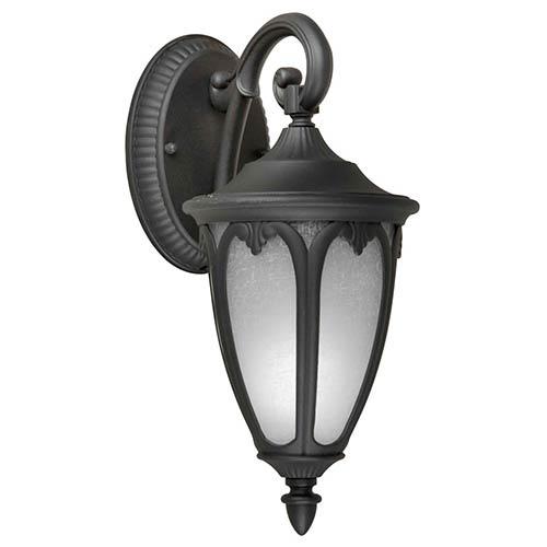 Forte Lighting Black One-Light 13.5-Inch High Fluorescent Cast Aluminum Outdoor Wall Sconce